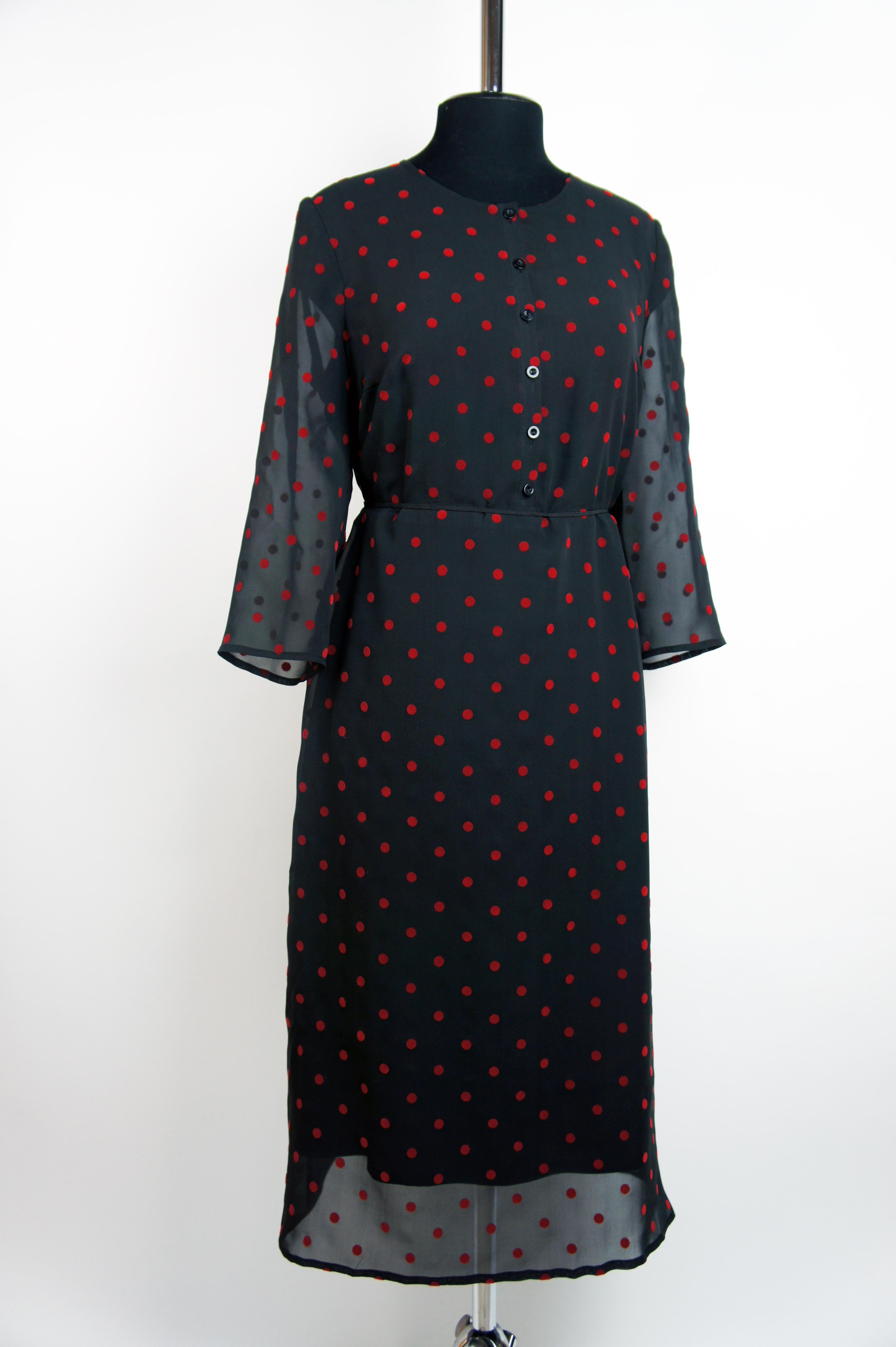 9f7ef8c84dd Шифоновое платье в горошек