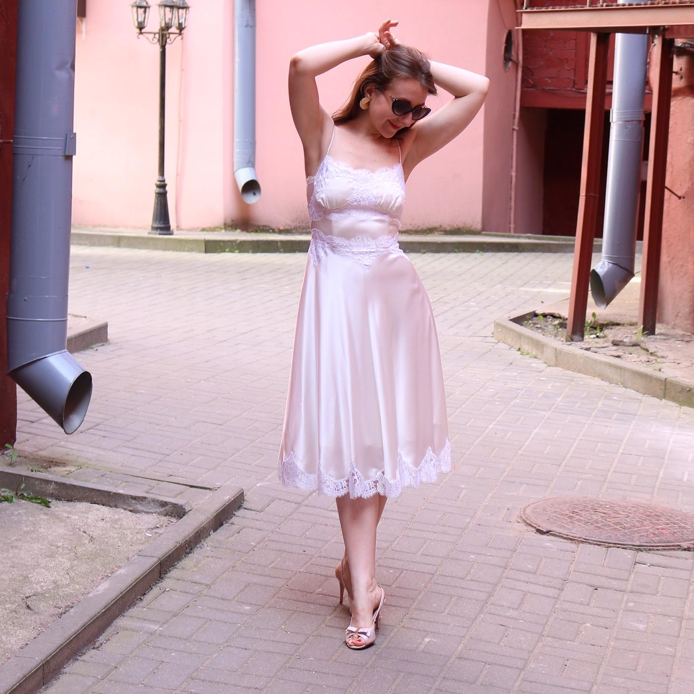 Платье Комбинация Из Шелка Купить
