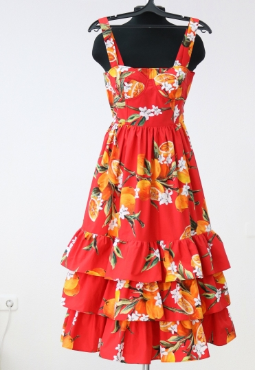 яркий сарафан, красивый сарафан, красивое платье, сарафан dolce gabanna