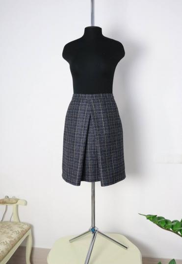стильная юбка, юбка в клетку, юбка со складкой, купить юбку из шерсти ,купить юбку из шерсти минск, стильные юбки минск, стильные юбки купить минск, atelier altanova, юбка на каждый день, юбка в офис