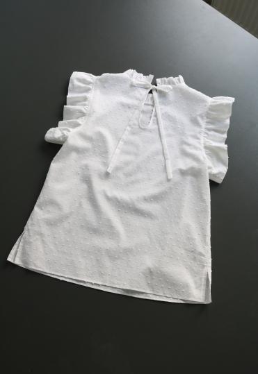 swiss dot blouse , swiss dot top, швейцарский горох, блузка, нежная блузка, красивая блузка, atelier altanova, платье в швейцарский горох, летняя блузка