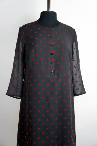 41d32d43406 Шифоновое платье в горошек