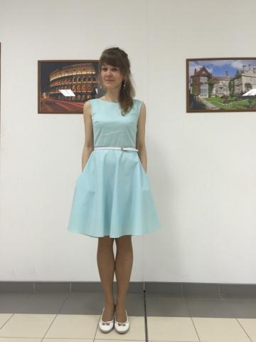 Пошив платья цвета Тиффани от atelieraltanova