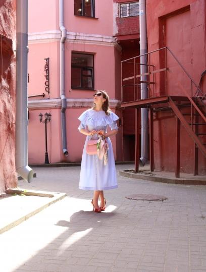 19 style dress, vintage dress, beautiful dress, blue dress, vichy blue dress,  vichy dress, платье в клектку виши , красивое платье , летнее платье , эффектное платье , нежное платье , пошив платья на заказ, необычный фасон, клетка гингхэм, летнее голубое платье , платье в клетку гингхэм, платье в клетку виши, нежное летнее платье , белорусские дизайнеры, платья белорусских дизайнеров