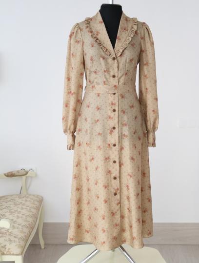 vintage dress, floral vintage dress, atelier altanova, шелковое платье в мелкие цветы, красивое платье , красивое осеннее платье , модное платье , платье в стиле ретро, платье на каждый день, белорусские дизайнеры, пошив платья минск, дизайнерское платье,купить шелковое платье минск,купить шелковое платье москва