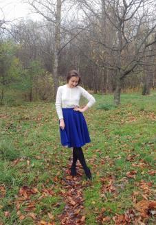 """Юбка-солнце-клеш """"Яркая осень"""" вид спереди - пошив одежды"""