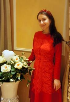 """Платье из шерсти с кружевом """"Барокко"""" вид сбоку - пошив одежды"""