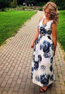 """Длинное вечернее платье """"Blue rose"""" - пошив одежды"""