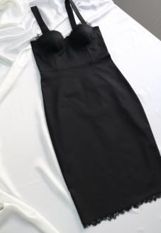 платье бюстье, корсетное платье , сексуальное платье, черное платье бюстье, платье с чашками, atelier altanova