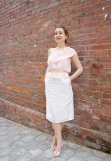 вид спереди-юбка-карандаш-пошив одежды