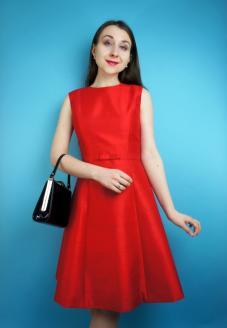 красное вечернее платье - пошив одежды