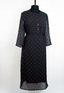платье в горошек, шифоновое платье , платье из шифона, пошив платьев, ателье минск ,ателье москва