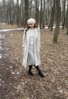 пошив пальто , красивое пальто, пальто на запах, серое пальто,бежевое пальто, французский стиль