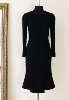 итальянский стиль, dolce vita, черное классическое платье, платье с юбкой годе, юбка годе, little black dress, стиль моники белуччи