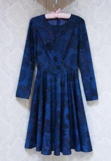 Платье с юбкой солнце вид спереди - пошив одежды