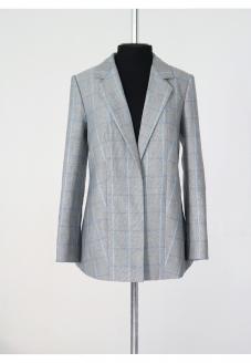 льняной женский жакет, жакет из льна в клетку купить минск, стильный жакет купить минск, atelier altanova , женский пиджак купить минск, льняная одежда минск, одежда белорусских дизайнеров купить минск
