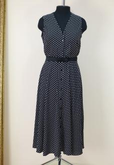 Платье-халат в горошек