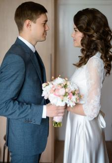 пошив шелкового свадебного платья в ателье Альта Нова, Минск