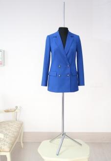 Double-breasted jacket in blue color, women blazer, женский пиджак, двубортный женский пиджак, красивый пиджак, стильный женский костюм, брючный костюм