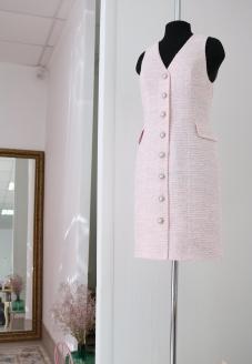 шанель, сарафан в стиле шанель, tweed dress, платье в стиле шанель, платье шанель, теплый сарафан