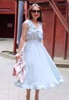 эффектное платье , эффектный сарафан, красивое платье, голубое платье , платье с воланами, платье голубого цвета, модно платье 2018, модное платье 2017, женственное платье, яркое платье, пошив на заказ минск, инд пошив минск, пошив платья минск, белорусские дизайнеры, дизайнерская одежда, красивая одежда минск, платье небесного цвета, платье с воланами, платье с рюшами