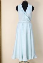 эффектное платье , эффектный сарафан, красивое платье, голубое платье , платье с воланами, платье голубого цвета, модно платье 2018, модное платье 2017, женственное платье, яркое платье, пошив на заказ минск, инд пошив минск, пошив платья минск, белорусские дизайнеры, дизайнерская одежда, красивая одежда минск, платье небесного цвета