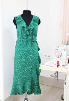 летнее платье в горошек, красивое платье, летнее платье, нежное платье, платье в стиле француженки, atelier altanova