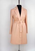 кремовый, персиковое пальто, летнее пальто, Весеннее пальто, пальто женское, Красивое пальто, купить осеннее пальто, Осеннее пальто, купить пальто, пальто на запах, пальто с запахом